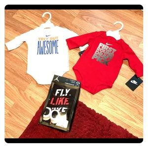 Bundle infant Nike bodysuits